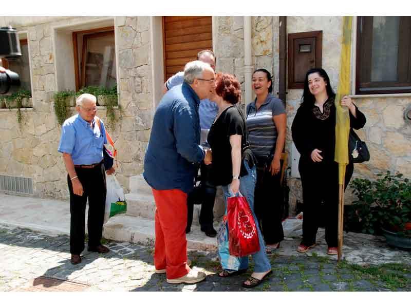Ottaviano Del Turco incontra a Collelongo i lavoratori socialmente utili